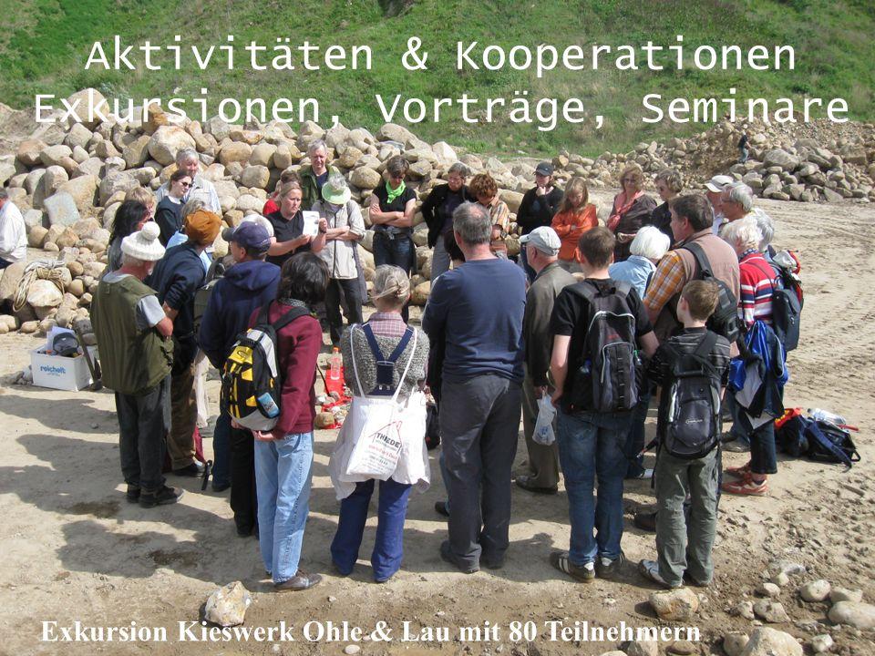 Aktivitäten & Kooperationen Exkursionen, Vorträge, Seminare Exkursion Kieswerk Ohle & Lau mit 80 Teilnehmern