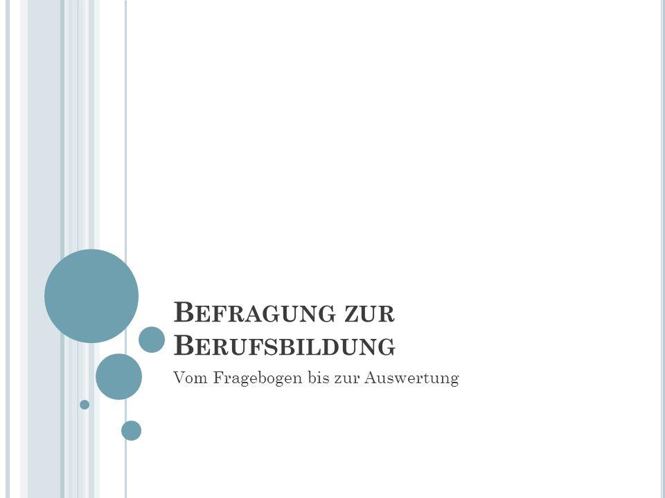 I NHALT Zahlen und Fakten Melanie Sternberg Auswertungen: o 1.