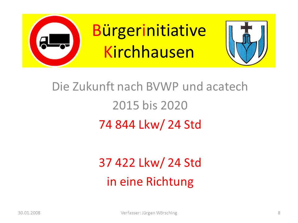 Bürgerinitiative Kirchhausen Sehr hohe Belastung!!!!.