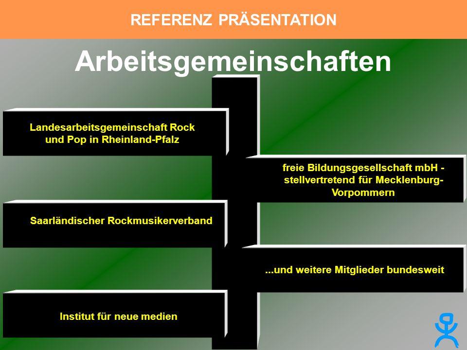 Landesarbeitsgemeinschaft Rock und Pop in Rheinland-Pfalz Saarländischer Rockmusikerverband Institut für neue medien freie Bildungsgesellschaft mbH -