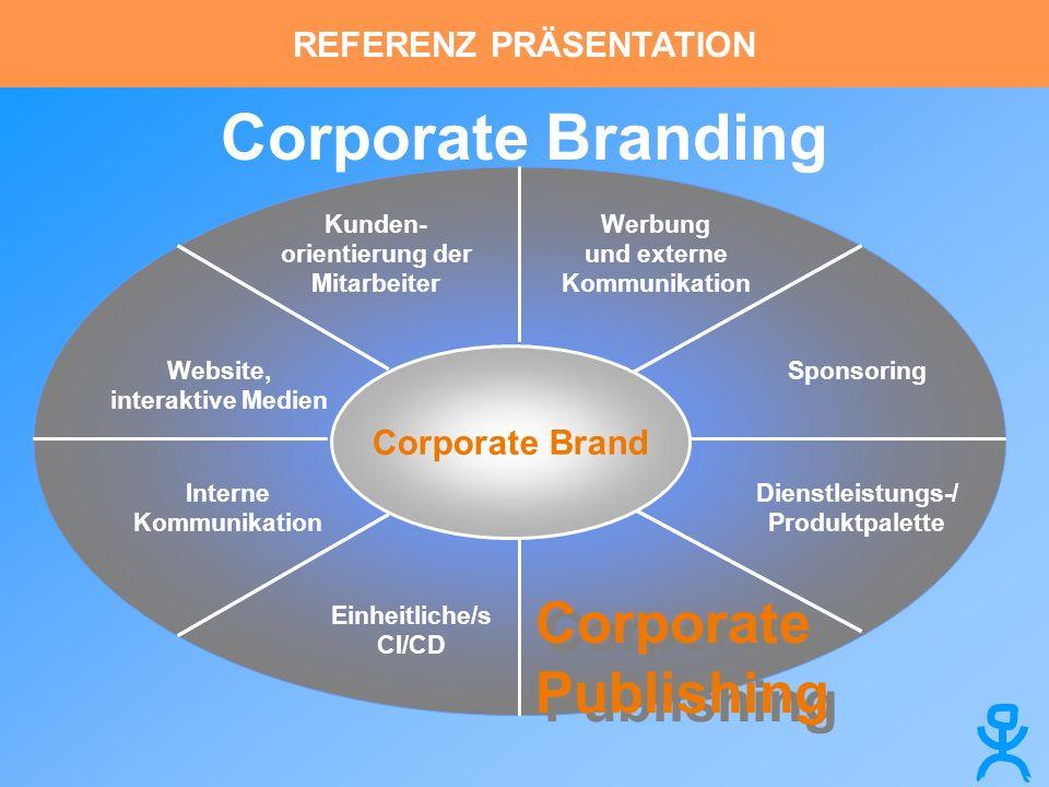 Corporate Branding Corporate Brand Werbung und externe Kommunikation Sponsoring Corporate Publishing Einheitliche/s CI/CD Interne Kommunikation Websit
