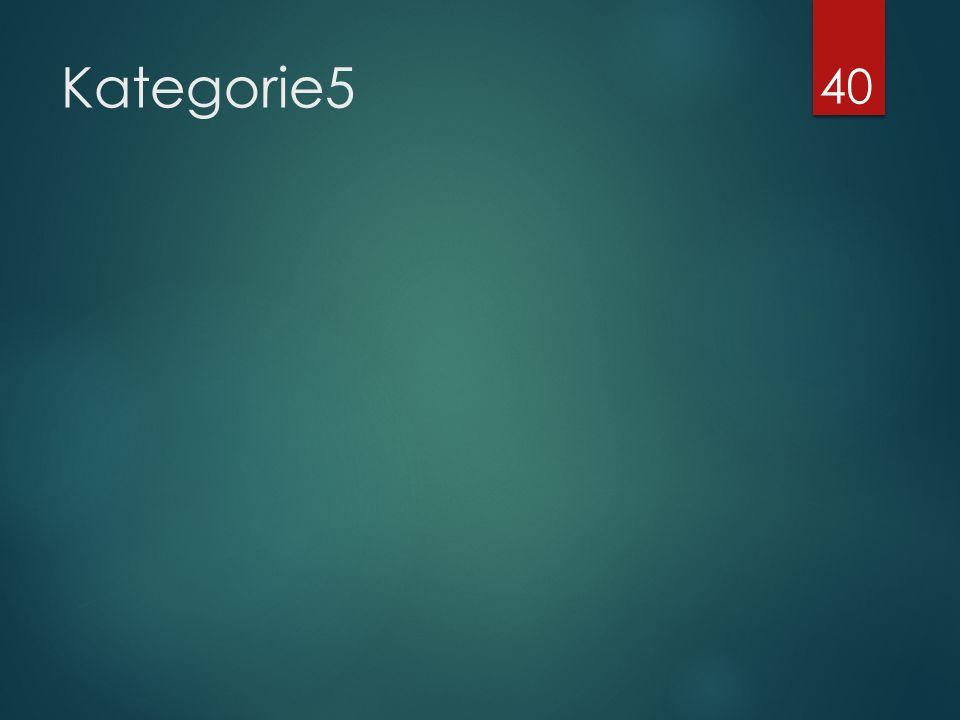 Kategorie5 40