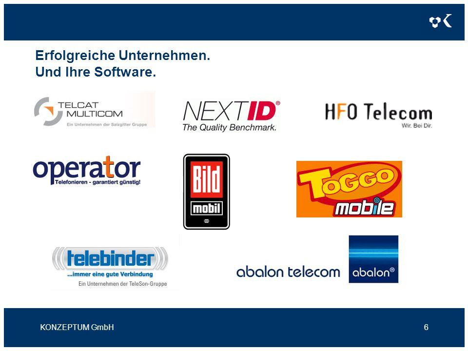 Erfolgreiche Unternehmen. Und Ihre Software. KONZEPTUM GmbH6