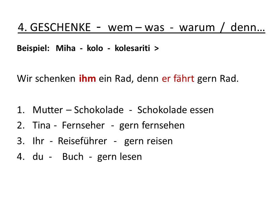 5.Steigerung der Adjektive dobro - veliko - visoko - blizu a) Miha je star toliko kot Petra.