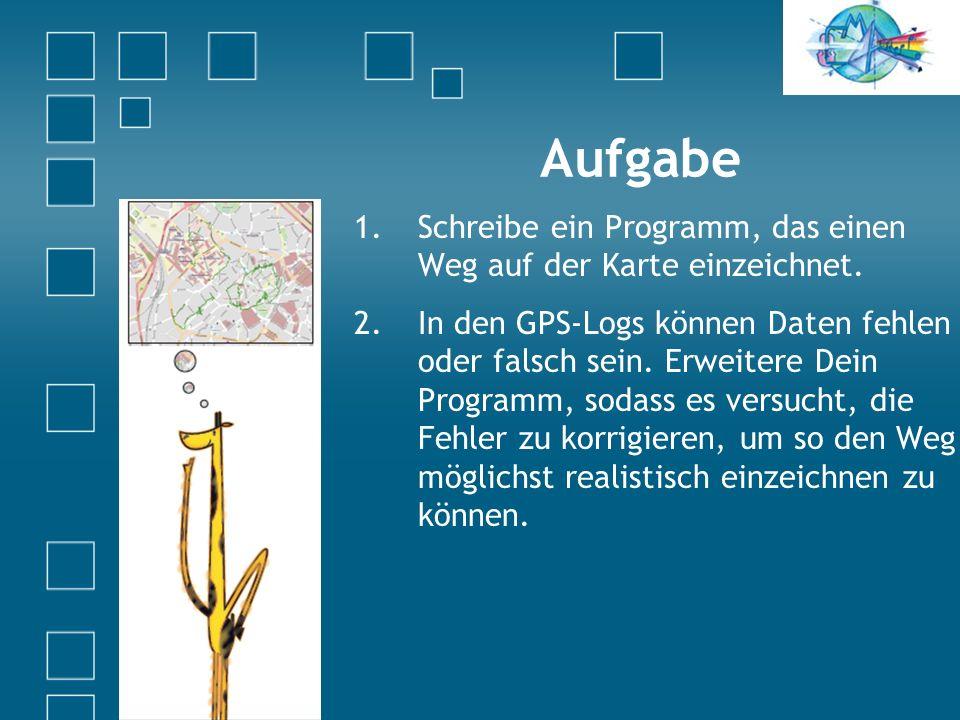 Aufgabe 1.Schreibe ein Programm, das einen Weg auf der Karte einzeichnet.