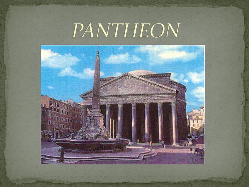 Definition Das Pantheon ist ein römischer Tempel von einem kreisförmigen Grundriss; es wurde später in eine Kirche umgewandelt und heisst heute Santa Maria Rotonda.