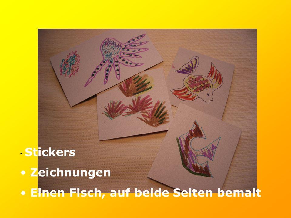 Stickers Zeichnungen Einen Fisch, auf beide Seiten bemalt