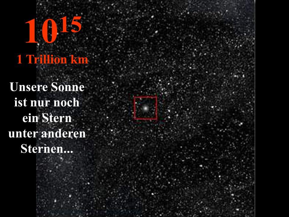 http://wissenschaft3000.wordpress.com/ 10 14 100 Billionen km Unser Sonnensystem wie es verschwindet im Weltall...