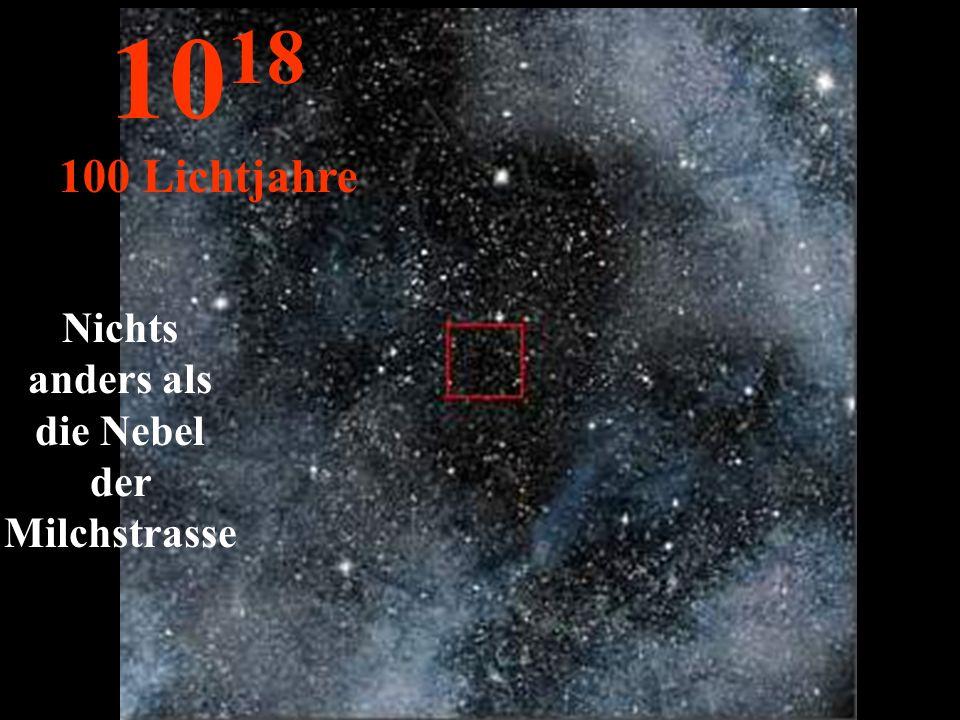 http://wissenschaft3000.wordpress.com/ Hier sieht man nur die Unendlich- keit des Firmaments... 10 17 10 Lichtjahre