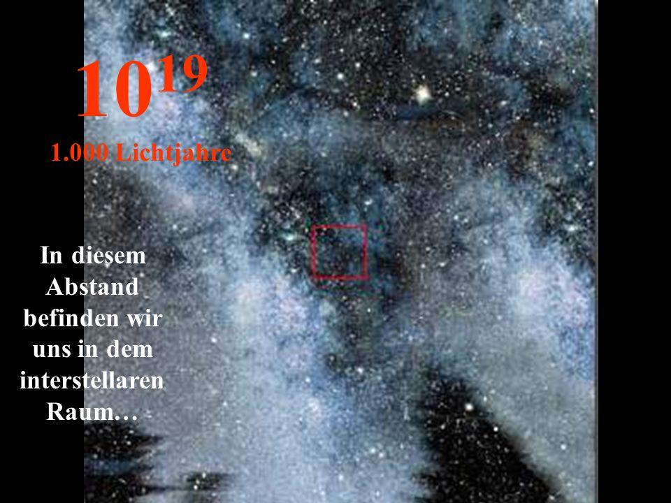 http://wissenschaft3000.wordpress.com/ Nichts anders als die Nebel der Milchstrasse 10 18 100 Lichtjahre