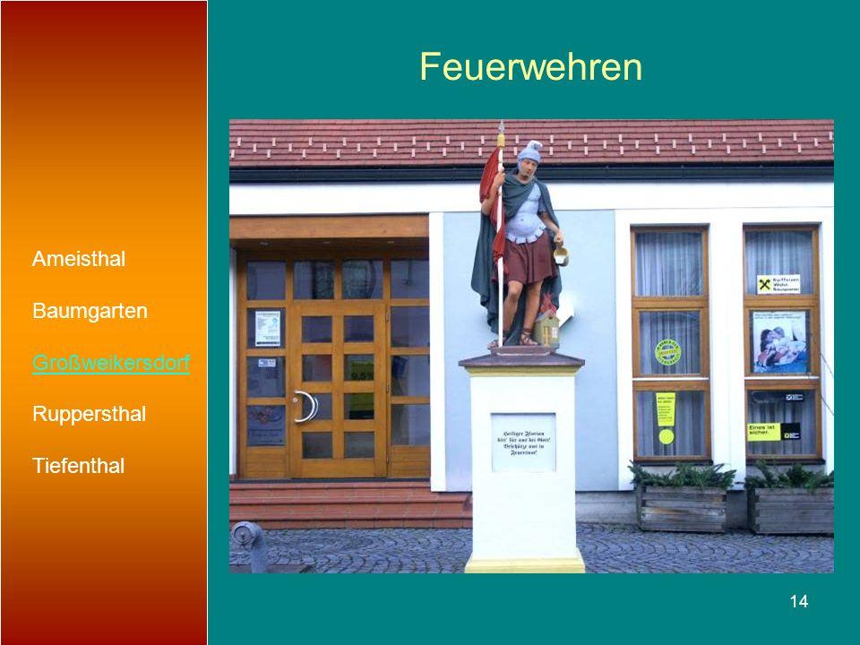 14 Feuerwehren Ameisthal Baumgarten Großweikersdorf Ruppersthal Tiefenthal