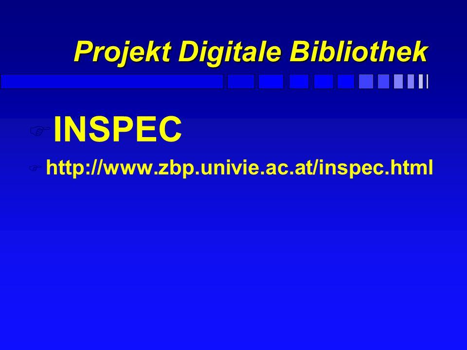 Projekt Digitale Bibliothek F Reaktionsdatenbanken ISIS/Host F Beilstein Crossfire F Internetzugriff auf Zeitschriften WebofScience, Elsevier, ACS ect