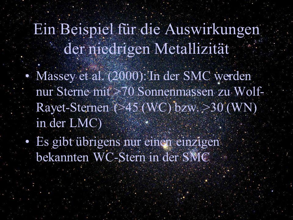 Ein Beispiel für die Auswirkungen der niedrigen Metallizität Massey et al.