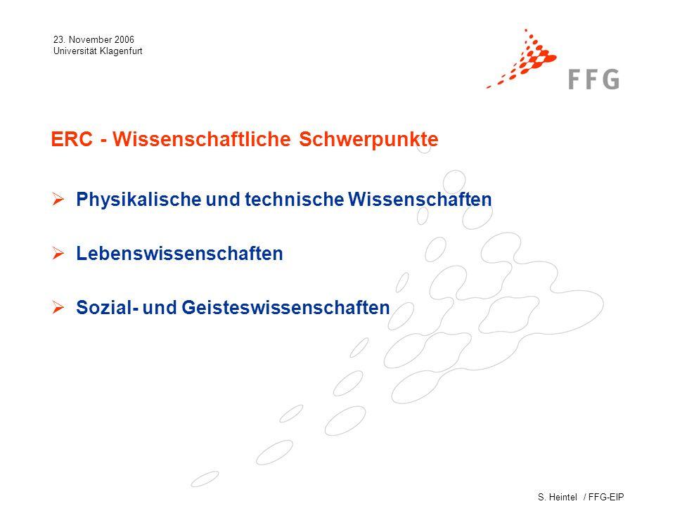 S.Heintel / FFG-EIP 23. November 2006 Universität Klagenfurt Die 2.