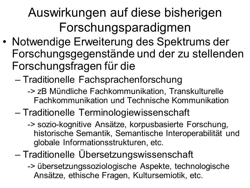 Forschungsfragen (zB translatorische Fehlerlinguistik) Welche sind die häufigsten Fehler.