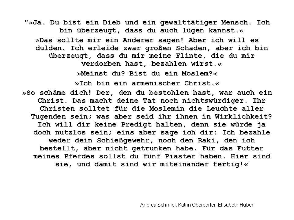 Andrea Schmidl, Katrin Oberdorfer, Elisabeth Huber »Ja.