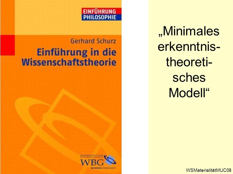 Minimales erkenntnis- theoreti- sches Modell WSMaterialitätMUC08