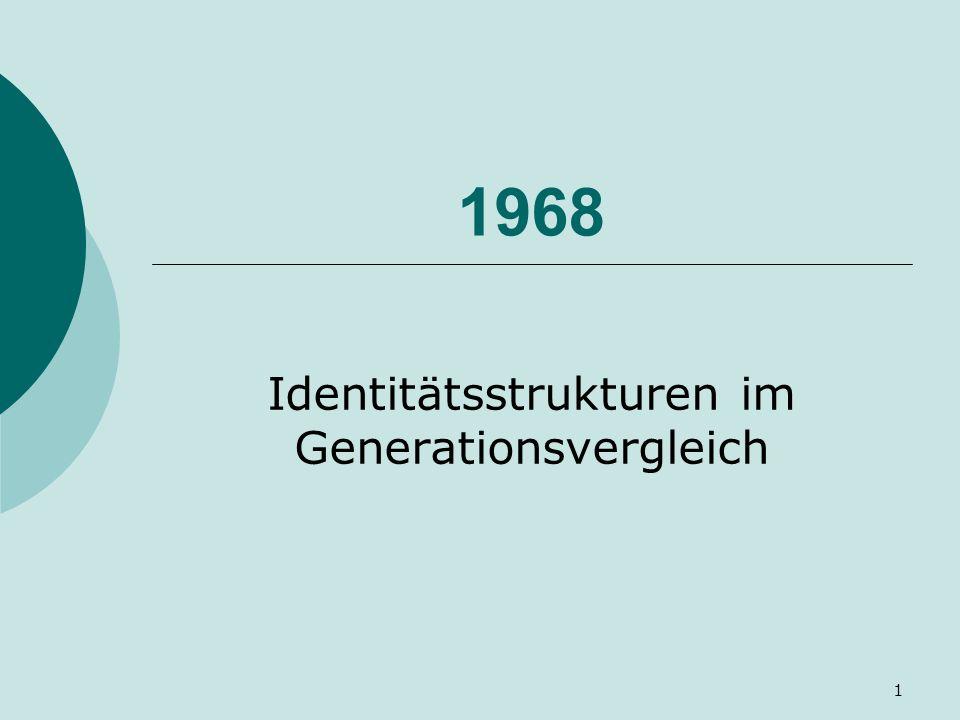 1 1968 Identitätsstrukturen im Generationsvergleich