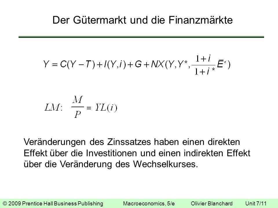 © 2009 Prentice Hall Business Publishing Macroeconomics, 5/e Olivier Blanchard Unit 7/11 Der Gütermarkt und die Finanzmärkte Veränderungen des Zinssat
