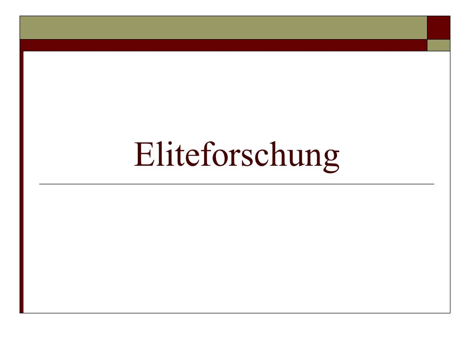 Eliteforschung