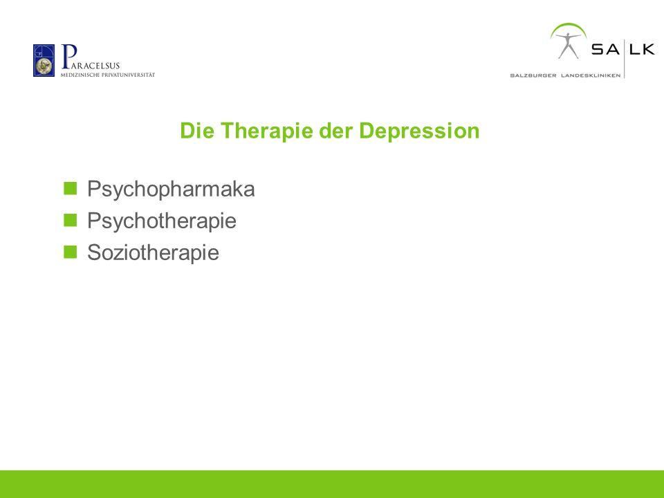Die Therapie der Depression Psychopharmaka Psychotherapie Soziotherapie