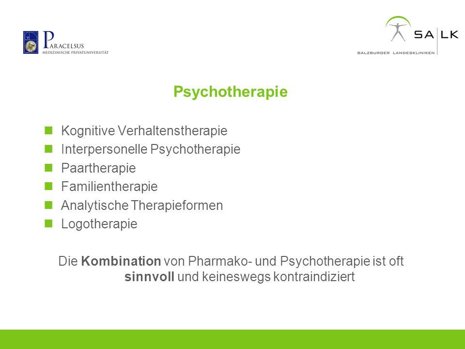 Psychotherapie Kognitive Verhaltenstherapie Interpersonelle Psychotherapie Paartherapie Familientherapie Analytische Therapieformen Logotherapie Die K