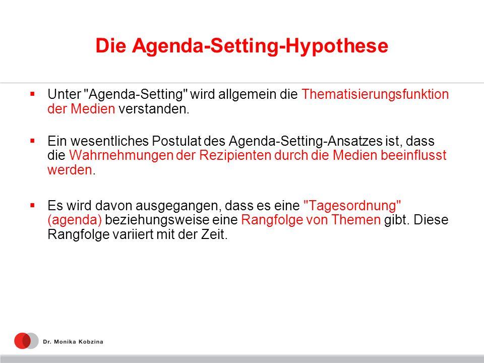 Die Agenda-Setting-Hypothese Unter
