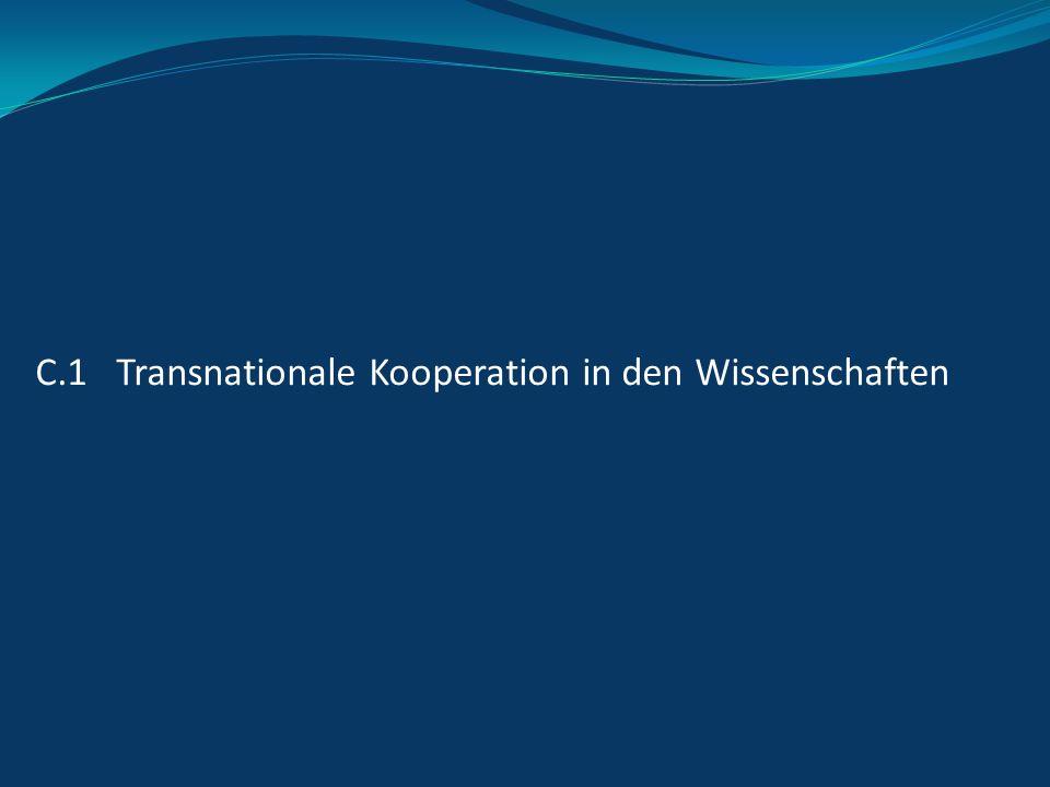 C.1 Transnationale Kooperation in den Wissenschaften
