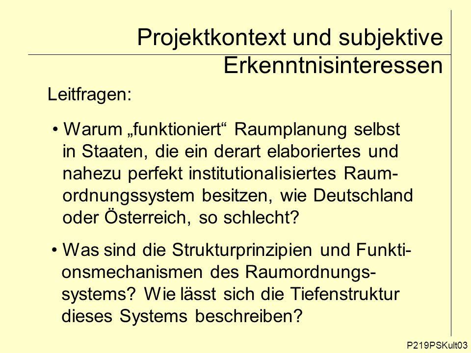 P219PSKult34 Die aktuelle Planungsdoktrin der österreichischen Bundesländer I Raumordnung hat weit überwiegend ordnungspolitische Aufgaben und Zielsetzungen.