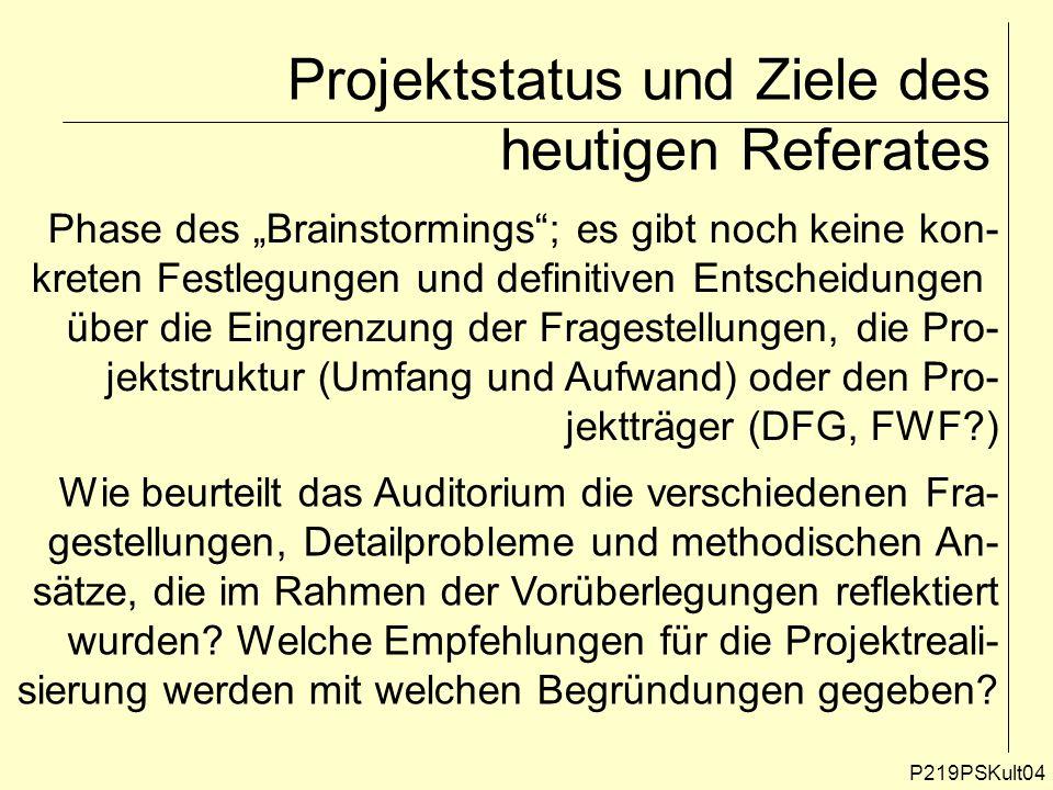 P219PSKult35 Die aktuelle Planungsdoktrin der österreichischen Bundesländer II Raumplanung darf sich nur auf raumwirksame Maß- nahmen beziehen; Wirtschafts- und Sozialpolitik sind eigenständige Bereiche, die von der Raumordnungs- politik strikt zu trennen sind.