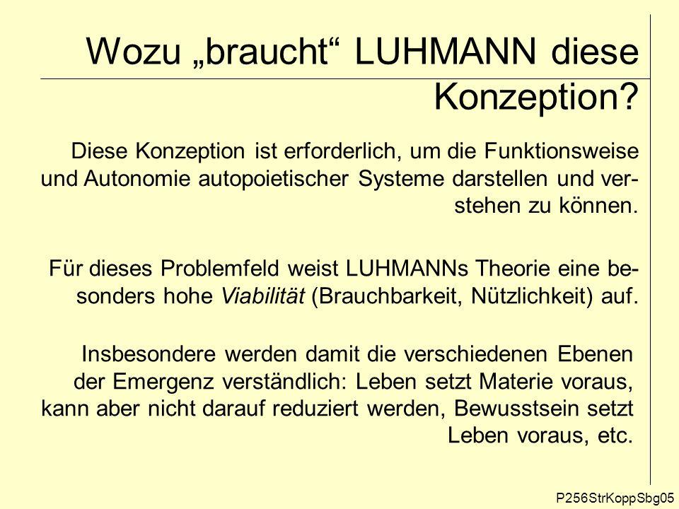 Systematik verschiedener Ebenen der Emergenz Quelle: W.