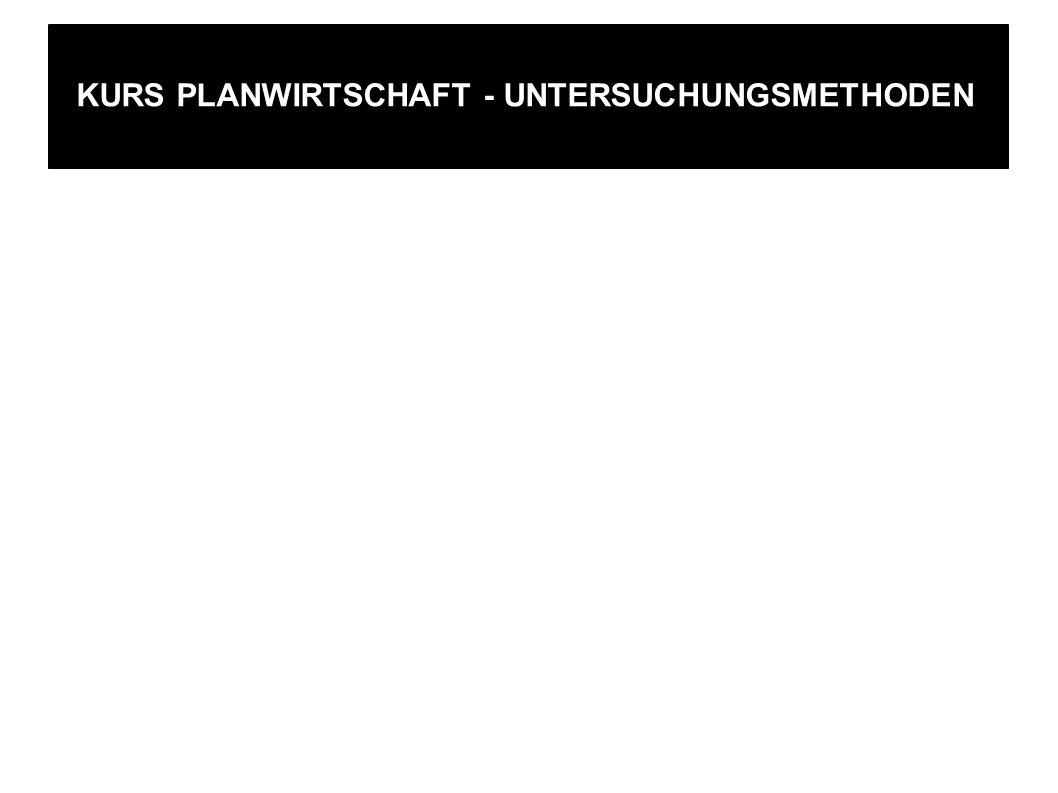 KURS PLANWIRTSCHAFT - UNTERSUCHUNGSMETHODEN