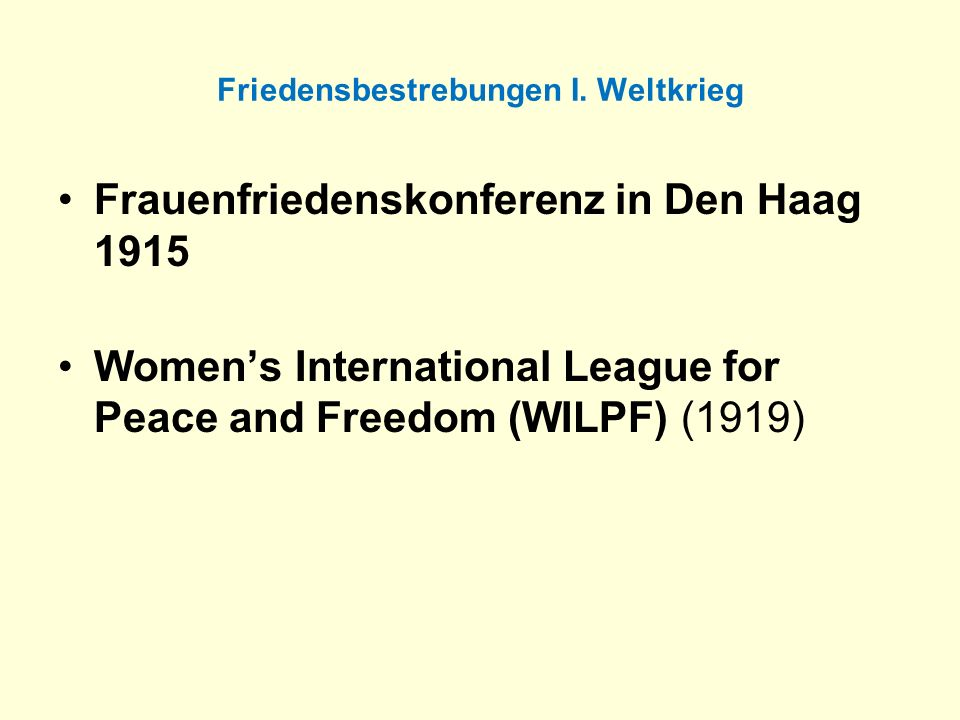 Internationale Frauenorganisationen nach 1945 Internationale Körperschaften und Konventionen (Fortsetzung): Convention on Workers with Family Responsibilities (1981, in Kraft 1983) Declaration on the Elimination of Discrimination against Women (1967)