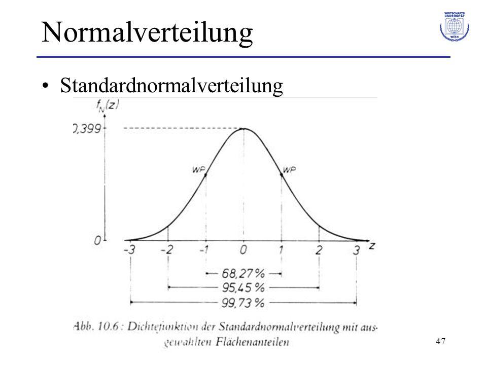 47 Normalverteilung Standardnormalverteilung