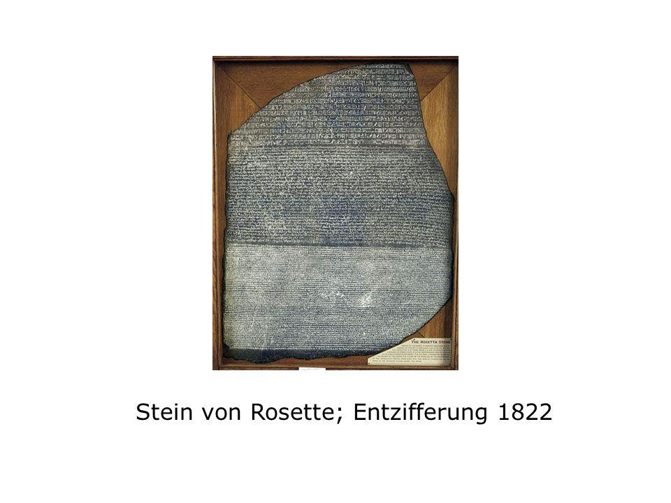 Stein von Rosette; Entzifferung 1822