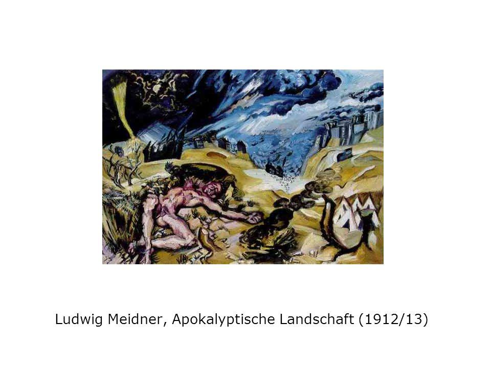 Ludwig Meidner, Brennende Stadt (1913)