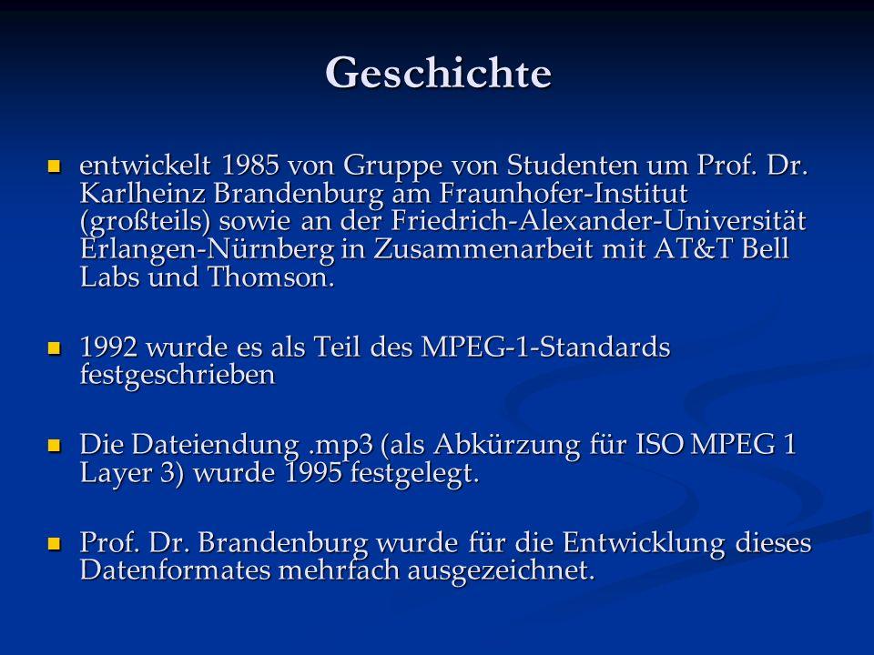 Geschichte entwickelt 1985 von Gruppe von Studenten um Prof.