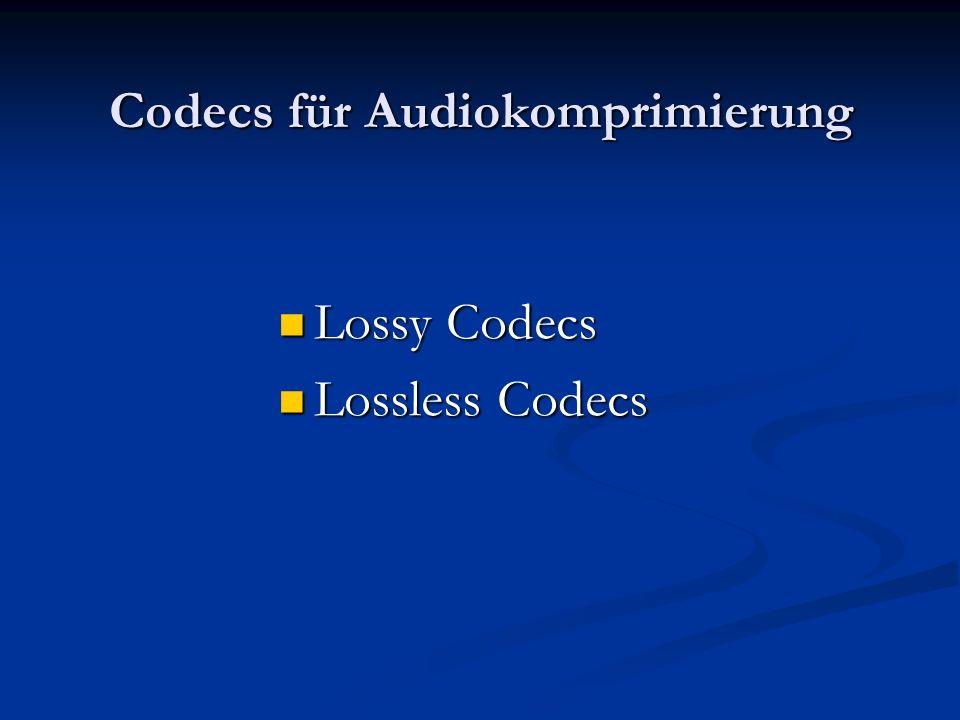 Verfahren Wie alle anderen Kompressionsformate für Musik nutzt MP3 sogenannte psychoakustisch Effekte der Wahrnehmung aus (z.B. zwei Töne erst ab eine