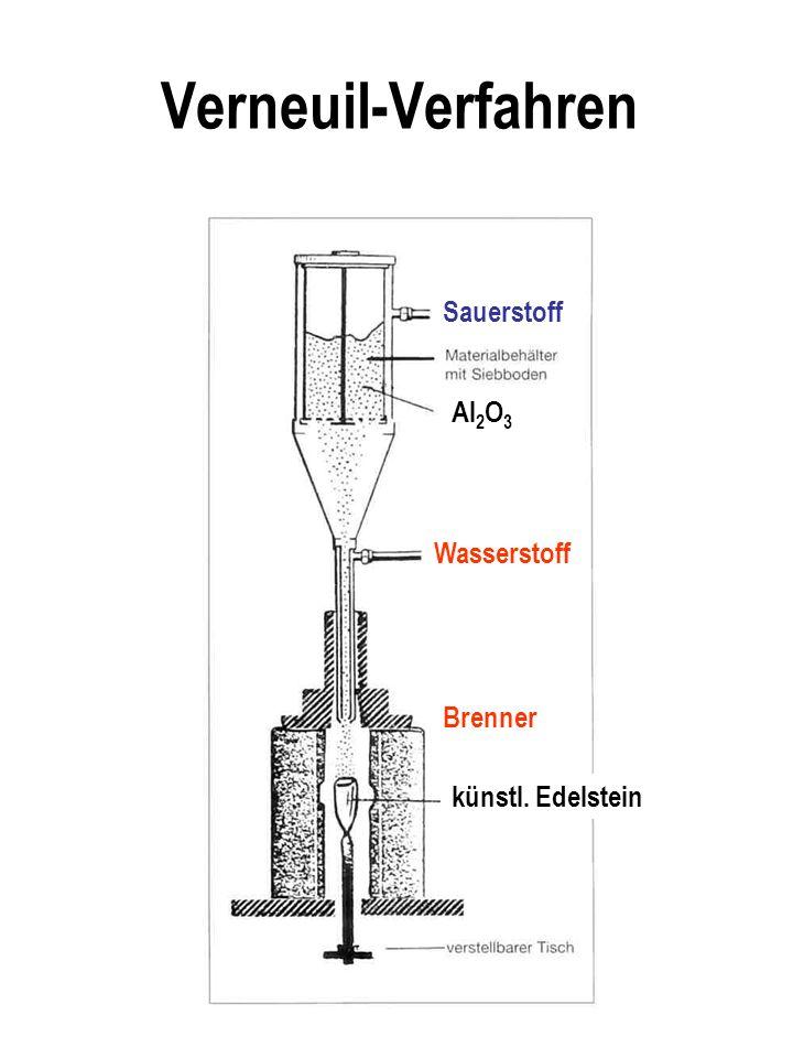 Verneuil-Verfahren Sauerstoff Al 2 O 3 Wasserstoff Brenner künstl. Edelstein