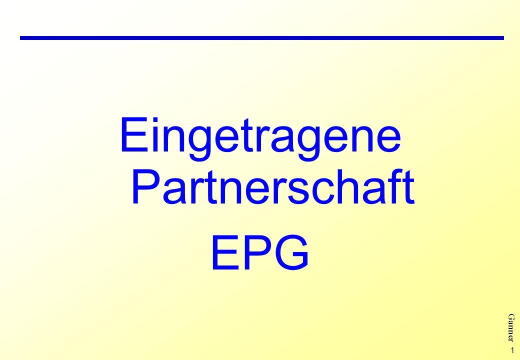 1 Ganner Eingetragene Partnerschaft EPG