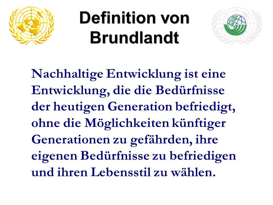 auch die Rechte der zukünftigen Generationen werden in den Mittelpunkt gerückt Menschen haben das Recht auf ein gesundes und produktives Leben im Einklang mit der Natur heute Entwicklung darf die Entwicklungs- und Umweltbedürfnisse der heutigen und kommenden Generationen nicht untergraben