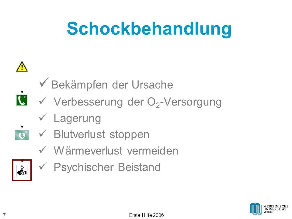 Erste Hilfe 20068 Schocklagerung © ÖRK