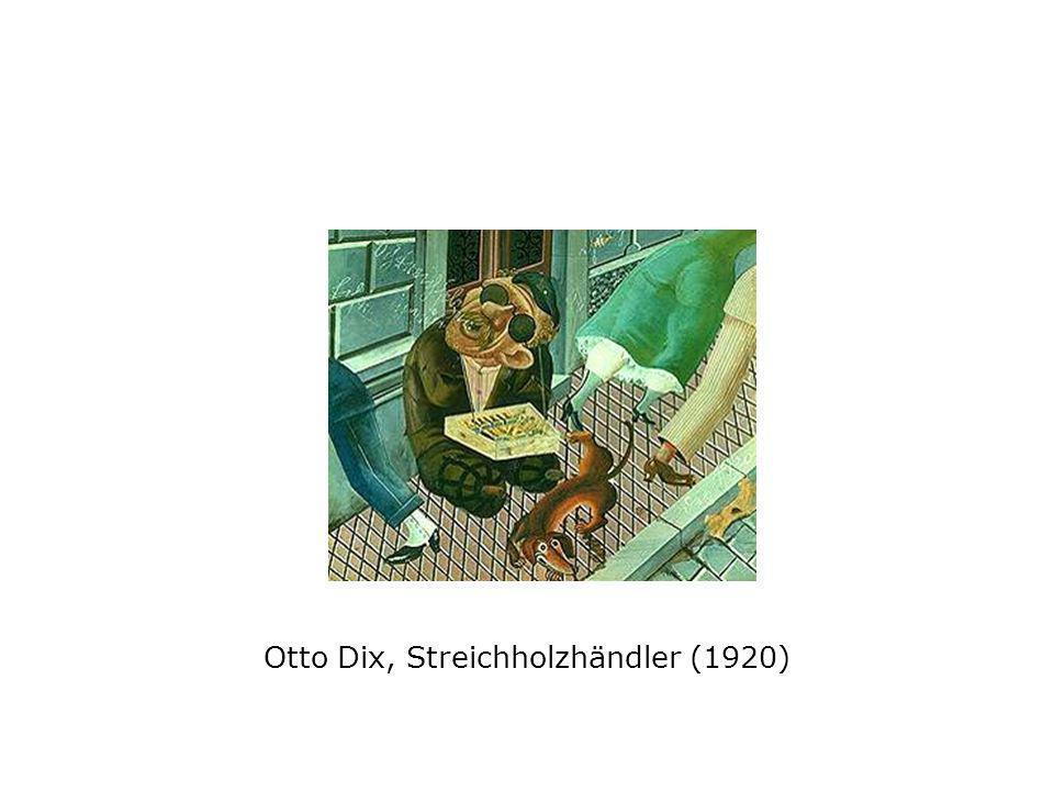 Otto Dix, Streichholzhändler (1920)