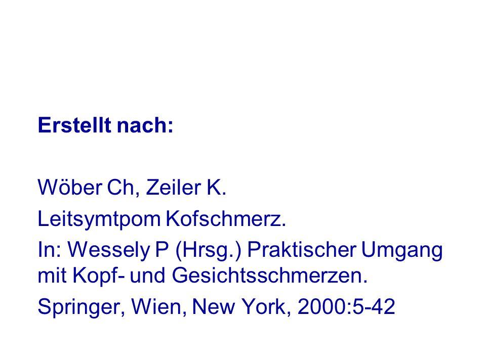 Erstellt nach: Wöber Ch, Zeiler K.Leitsymtpom Kofschmerz.