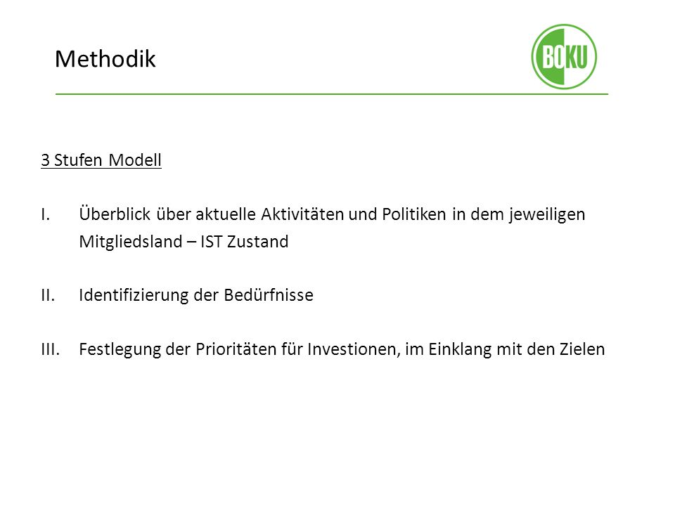 Methodik 3 Stufen Modell I.