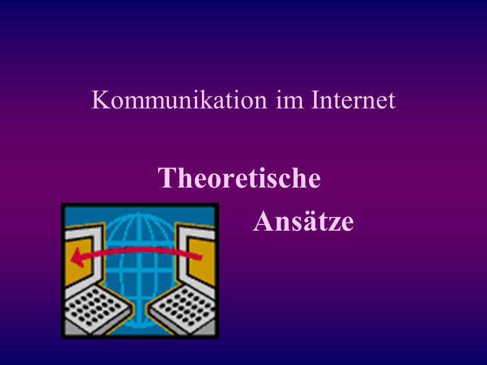 Bibliographie: Döring, Nicola (2000a).Kommunikation im Internet: Neun theoretische Ansätze (Kap.