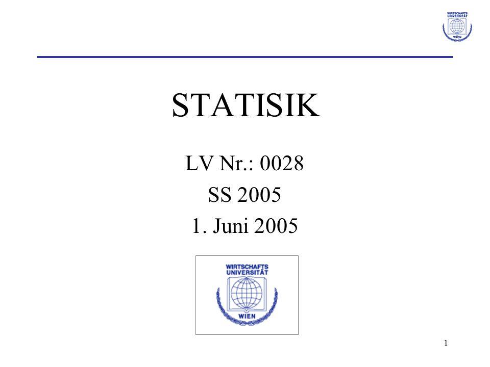 1 STATISIK LV Nr.: 0028 SS 2005 1. Juni 2005