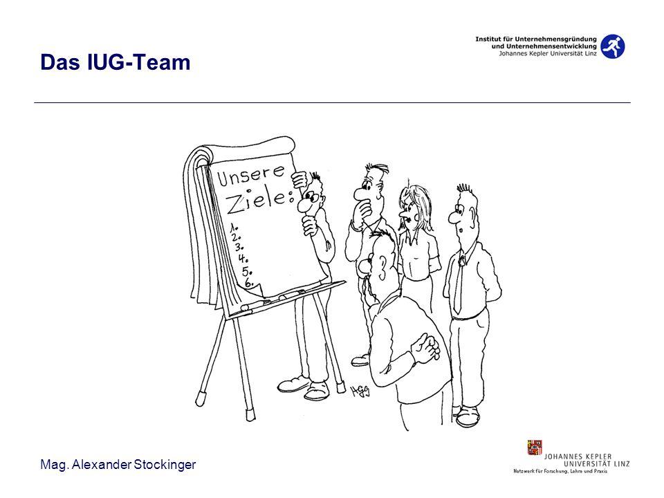 Mag. Alexander Stockinger Das IUG-Team