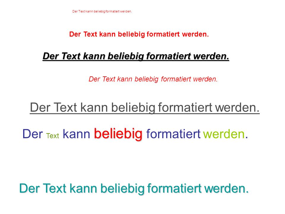 Textfelder können überall positioniert werden