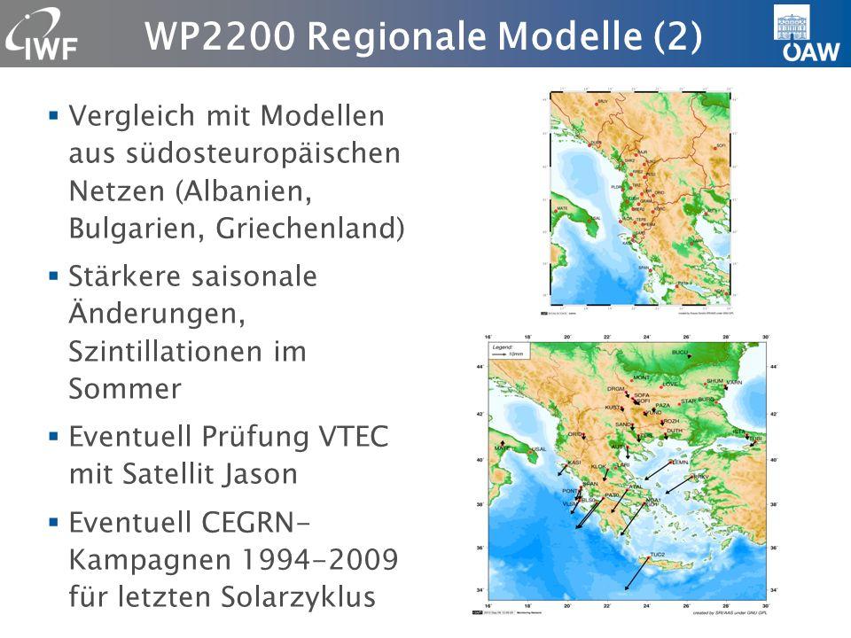 Allgemein Beteiligung an WP 1100, 1200, 2100, 2200 und 3100 Schwerpunkte WP1100+1200 State of the Art Analysis und WP2100+2200 Comparison of Ionospheric Models Problem: WP enden T0+3 bzw.